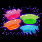 Blacklight UV-Reactive Neon Fluorescent Glow Bowl 20 Pack