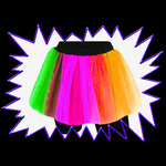 Blacklight UV-Reactive Neon Fluorescent Glow net Tutu Skirt