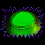 Phosphorescent Glow in the dark pigment powder - glow green