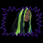Blacklight UV-Reactive Neon Fluorescent Dayglo Witch Wig