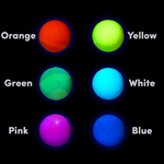 Blacklight UV-Reactive Neon Fluorescent Dayglo Golf Balls