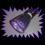 UV Gear Hi Power GU-10 6 Watt UV Bulb 395 nm