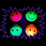 Blacklight UV-Reactive Neon Fluorescent Dayglo Rubber Bouncy Ball 50mm