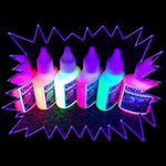 UV Reactive water marbling inks for tattoo dipping - set of 6 colours