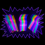 Blacklight UV-Reactive Neon Fluorescent Dayglo Cutlery Set 44 piece pack