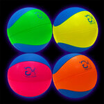 UV Reactive Glow Neon Foam 6 inch balls (set of 4)