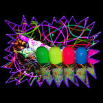 UV Reactive Neon Fluorescent Glow Silly String Can
