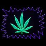 Pre-cut Acrylic Fun sign - Cannabis Leaf
