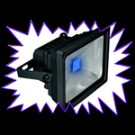 UV Blacklight LED Floodlight - 30 watt - 390nm with battery pack IP65