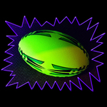 Blacklight UV-Reactive Neon Fluorescent Dayglo Touch Rugby Training Ball