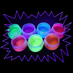 UV Gear Blacklight UV-Reactive Neon Fluorescent Glow Hair & Body Glitter