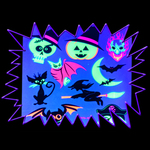 New UV Reactive Body Tattoo sheet - Halloween