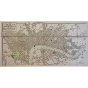 Mogg, Edward - An Entire New Plan of the Cities of London and Westminster with the Borough of Sou...