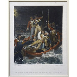 Sir horatio nelson when wounded at tenerife, night of july 24th 1797