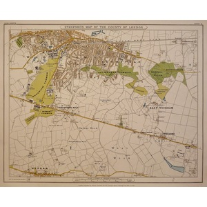 Stanfords map of the county of london - sheet 15 - woolwich, plumstead, east wickham