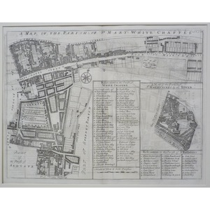 A map of the parish of mary white chapel