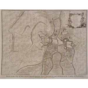Plan of the city of bouchain situated upon the rivers sensette and scheld