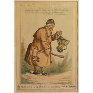 Master dogberry, the parish watchman - parish characters, plate no. 6