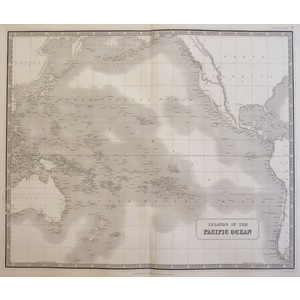 Johnston A. K. - Map of Islands in the Pacific Ocean. Original antique steel-plate engraving with...