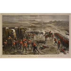 The relief of ekowe - the battle of ginghilova: zulus attacking lord chelmsfords camp, april 2