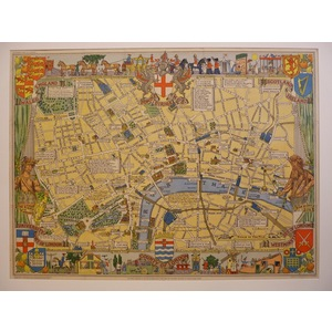Childrens map of london, 1938