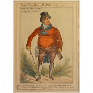 Mr george king, the parish overseer - parish characters plate no. 1