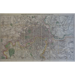 Davies ; New Map of London and its Environs. Showing the New Railway Stations and other Improveme...
