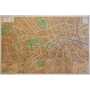 Pictorial Plan of London - Original folding map published by Geographia Ltd, 1930