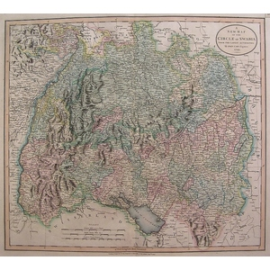 A new map of the circle of swabia - cary 1806