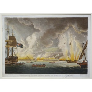 Destruction of the french fleet at toulon, december 18th 1793