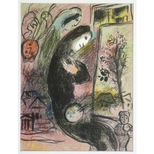 Marc Chagall, Inspiration. Original colour plate lithograph, Published 1963