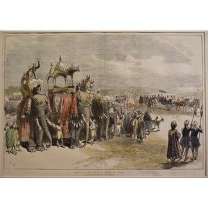 Arrival of the prince of wales at lahore