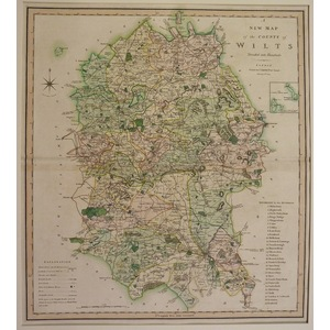 A new map of the county of the county of wiltshire