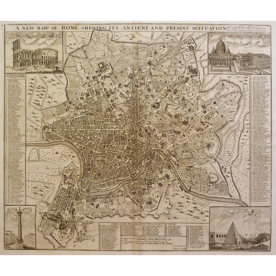 Rome, a new map of - shewing . | Storey's