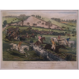 Northhampton grand national steeple chase, 1840  -  the brook