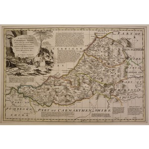 An accurate map of cardiganshire - bowen, 1780