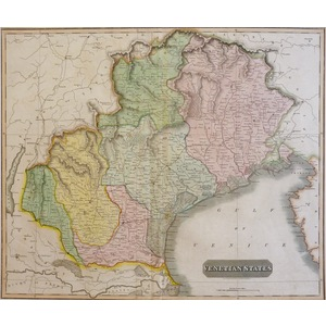 Venetian States - Original antique engraved map by Thomson, 1816