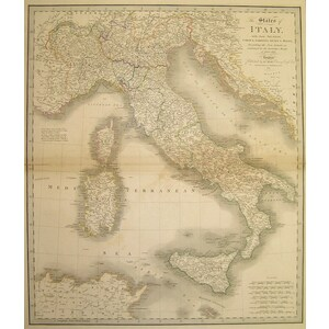 The states of italy, with their islands, corsica, sardinia, sicily & malta