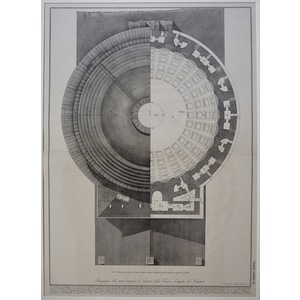 Iconography of the parts of the inner and outer tube or dome of the Pantheon