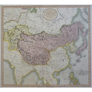 A New Map of Chinese & Independent Tartary - J. Cary, 1806