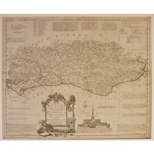 An accurate map of sussex - t. Kitchin