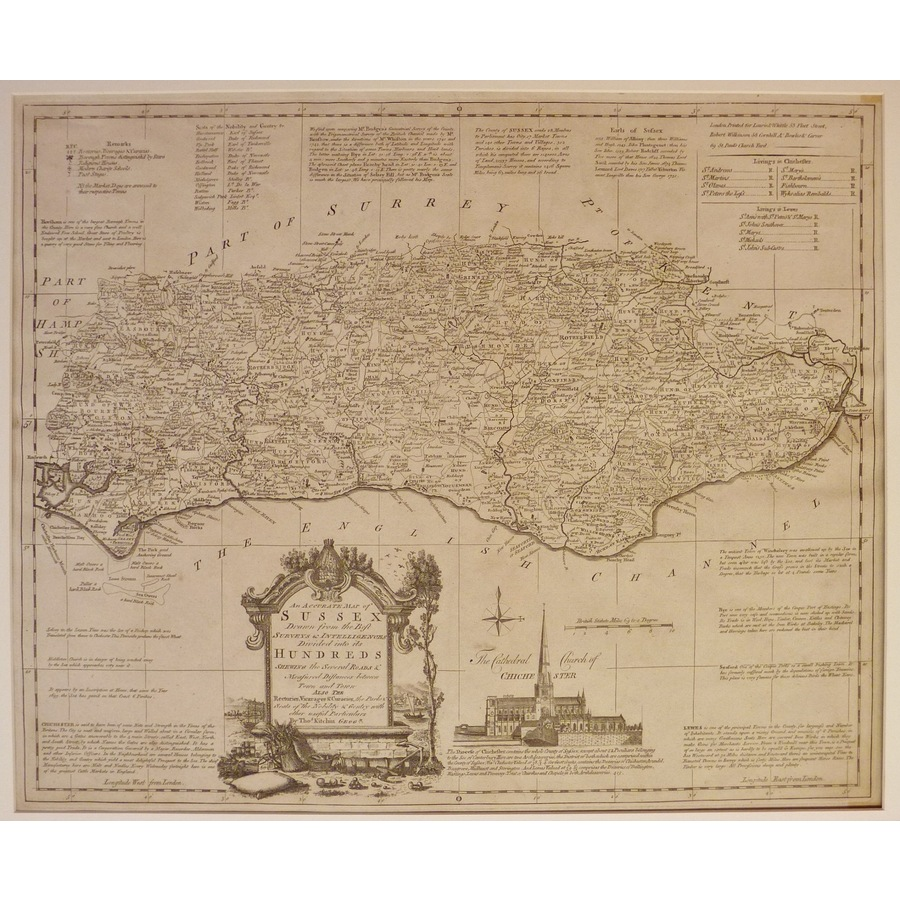 An accurate map of sussex - t. | Storey's
