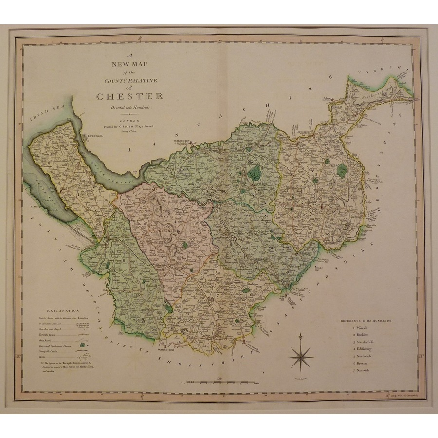 A new map of the county palat. | Storey's