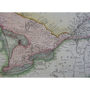 A New Map of Upper & Lower Canada - J. Cary, 1807