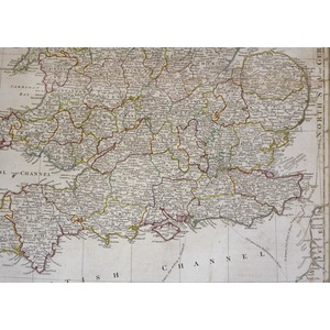 A New and Compendious Map of England and Wales - Original antique map by Samuel Dunn, 1788