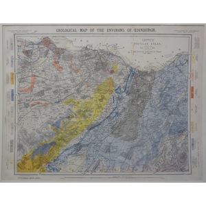Geological map of the environs of edinburgh