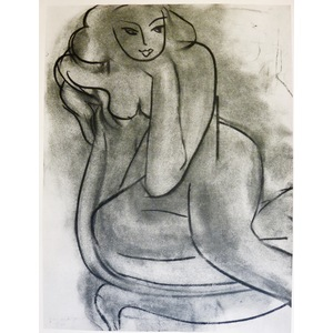 Matisse , Henri - Sitting Nude. Original heliogravure published in 1958 by Teriade for Verve Maga...