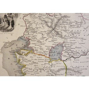 Independent Tartary - Original antique steel engraved map.  With original hand-colour.  Published...
