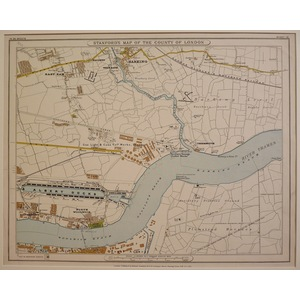 Stanfords map of the county of london - sheet 10 - barking, east ham, plumstead marshes, north wo...