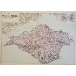 The Isle of Wight - Original antique map. Published by G.W. Bacon, 1881 for the